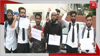 गुज्जर बकरवाल PG students और JKSRTC उम्मीदवारों का प्रदर्शन, उठाई ये मांग
