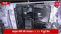 बाइक चोरी की वारदात CCTV में हुई कैद