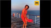Oops मूमेंट Video: क्रूज पर लहराते हुए पोज दे रही थीं शिल्पा, हवा में उड़ी ड्रेस
