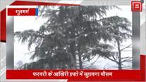 Kashmir Valley में मौसम हुआ सुहावना, Gulmarg में ताजा बर्फबारी से बढ़ी रौनक