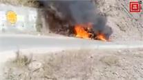 Breaking:- सोलन के कंडाघाट में कार में लगी अचानक आग