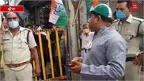 हनुमान चालीसा करने से रोकने पर पुलिस पर बरसे कांग्रेस नेता...देखिए चंबल के अंदाज मजेदार खिंचाई