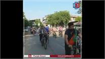 वैक्सीनेशन को बढ़ावा देने और पर्यावरण को बचाने के लिए निकाली गई साइकिल रैली