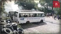 जम्मू में दो अलग-अलग घटनाओं में जली कार और बस