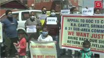 श्रीनगर में एक दर्जन दुकानदारों ने किया प्रोटेस्ट, एलजी और जीओसी आर्मी से लगाई मदद की गुहार