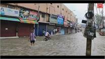 सोनीपत में हो रही बारिश में पानी ही पानी गीता भवन चौक की लाइव तस्वीरें