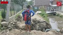 आरएंडबी विभाग ने पाइप लाइन डालने के नाम पर खोद डाली सड़क, लोग परेशान