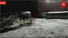 लाहौल में ताजा हिमपात,रोहतांग से आवाजाही पर रोक
