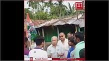 TMC के वर्करों ने बीजेपी कैंडिडेट अशोक मंडल के साथ की धक्का-मुक्की