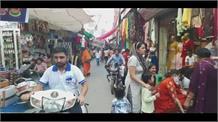करवा चौथ त्यौहार को लेकर महिलाओं की तैयारियां बाजार में भीड़ गोहाना से …