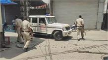 पानीपत के बाजारों में एक्शन मोड में दिखाई दी पुलिस देखिए लाइव