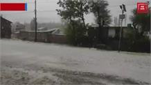 आसमान से बरसी 'सफेद आफत', कुपवाड़ा में बागवानों को भारी नुकसान