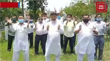 बिजली-पानी को लेकर पैंथर्स पार्टी का जोरदार प्रदर्शन, जमकर की नारेबाजी