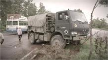 आर्मी के ट्रक को पीछे दूसरे ट्रक ने मारी टक्कर, हादसे में 5 से 6 सैनिक हुए घायल