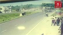 BSF कमाडेंट मारुत सरन पांडेय की कार के एक्सीडेंट का Live Video आया सामने, ट्रक से टकराई थी कार