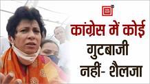 ऐलनाबाद उपचुनाव और कांग्रेस गुटबाजी को बोली कुमारी शैलजा