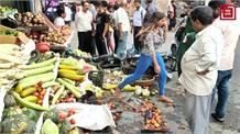 जोगिंदरनगर बाजार में कार की ब्रेक फेल... तीन वाहनों से हुई टक्कर