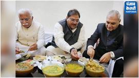 CM से मिलने और हुड्डा के साथ खाना खाने...