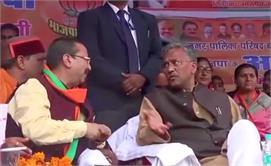 सीएम त्रिवेंद्र सिंह रावत पहुंचे...