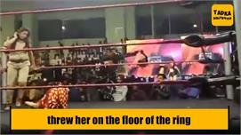 Wrestler throws Rakhi on ring floor