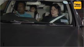 B-town celebs at Rani's daughter...