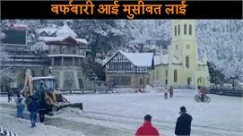 शिमला में हुए ताजा हिमपात से बढ़ी शहर...
