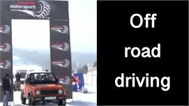 गुलमर्ग में off road snow car racing,...