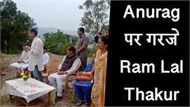 Anurag Thakur  पर बरसे कांग्रेस...