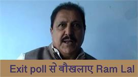 Exit poll से बौखलाए Ram Lal, दिया ये...
