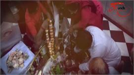 बाल गोपाल के बाद भगवान शिव की प्रतिमा...