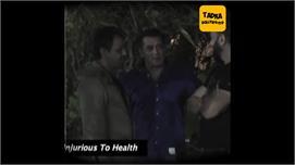 VIDEO: गणपति विसर्जन में सिगरेट पीते...