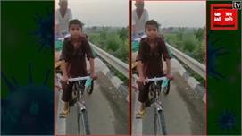 मां-बाप को रिक्शा पर लेकर वाराणसी से...